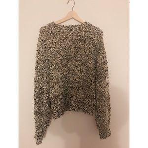 Anthropologie sweater with puff sleeves